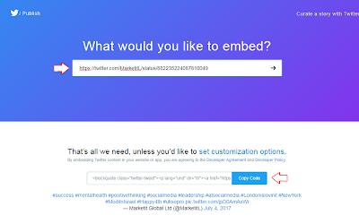 Cara Memasukkan Tweet Twitter Ke Dalam Artikel Blog (Embed Twetter)