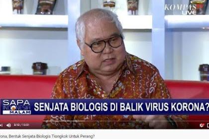 Ini Pemaparan Mantan Intelijen TNI soal Virus Corona Senjata Biologi China