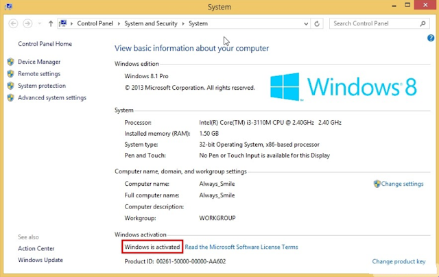 How to Activate Windows 8/8.1 for Free Without Additional Software