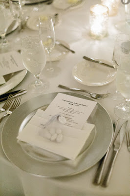 simple reception place setting