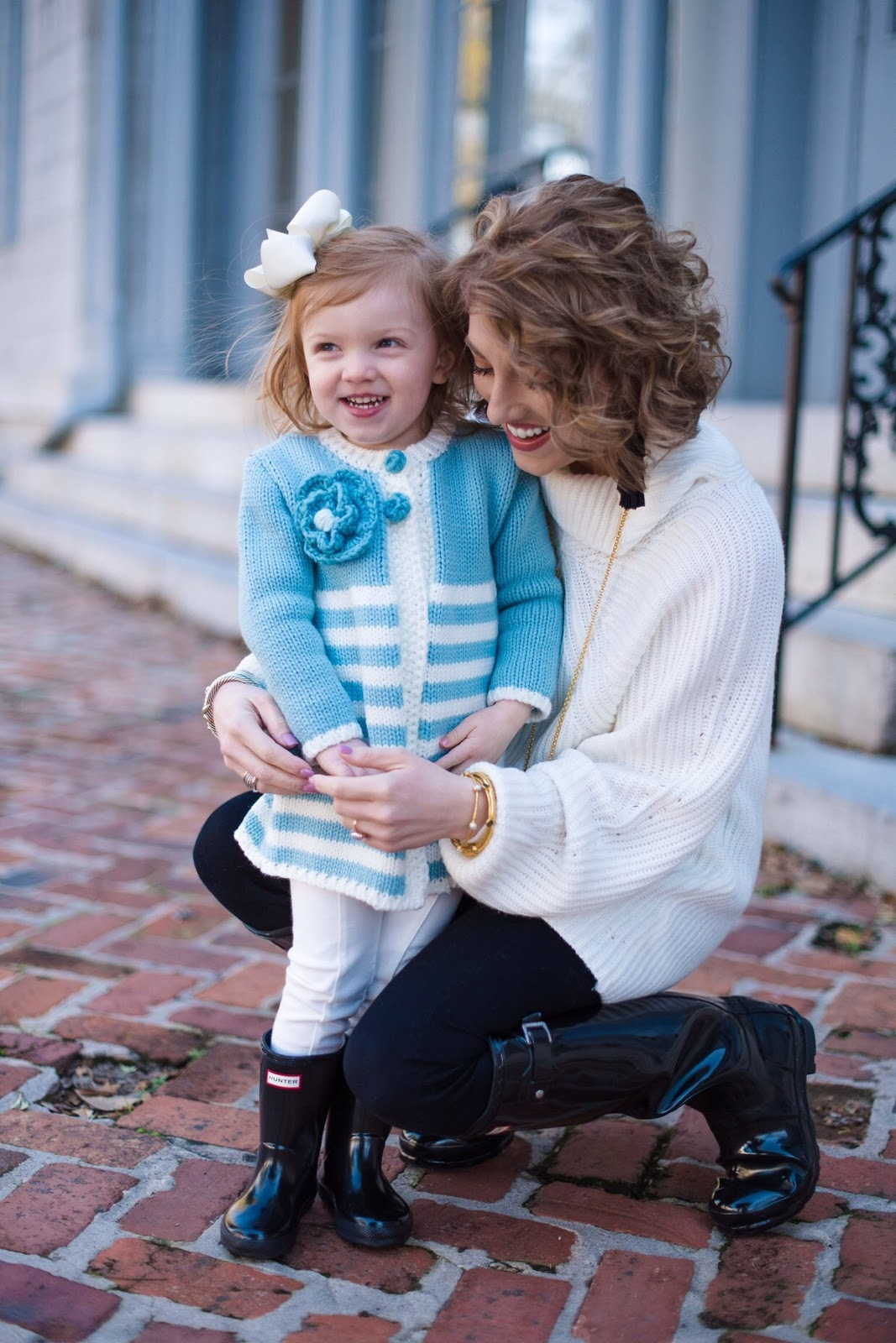 Mommy & Me Black Hunter Boots - Something Delightful Blog