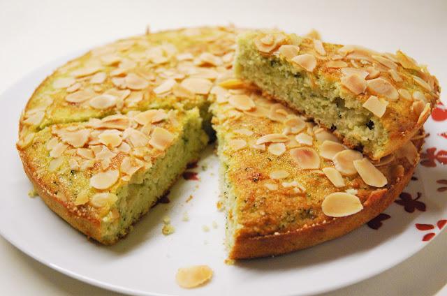 Gâteau courgette - amandes