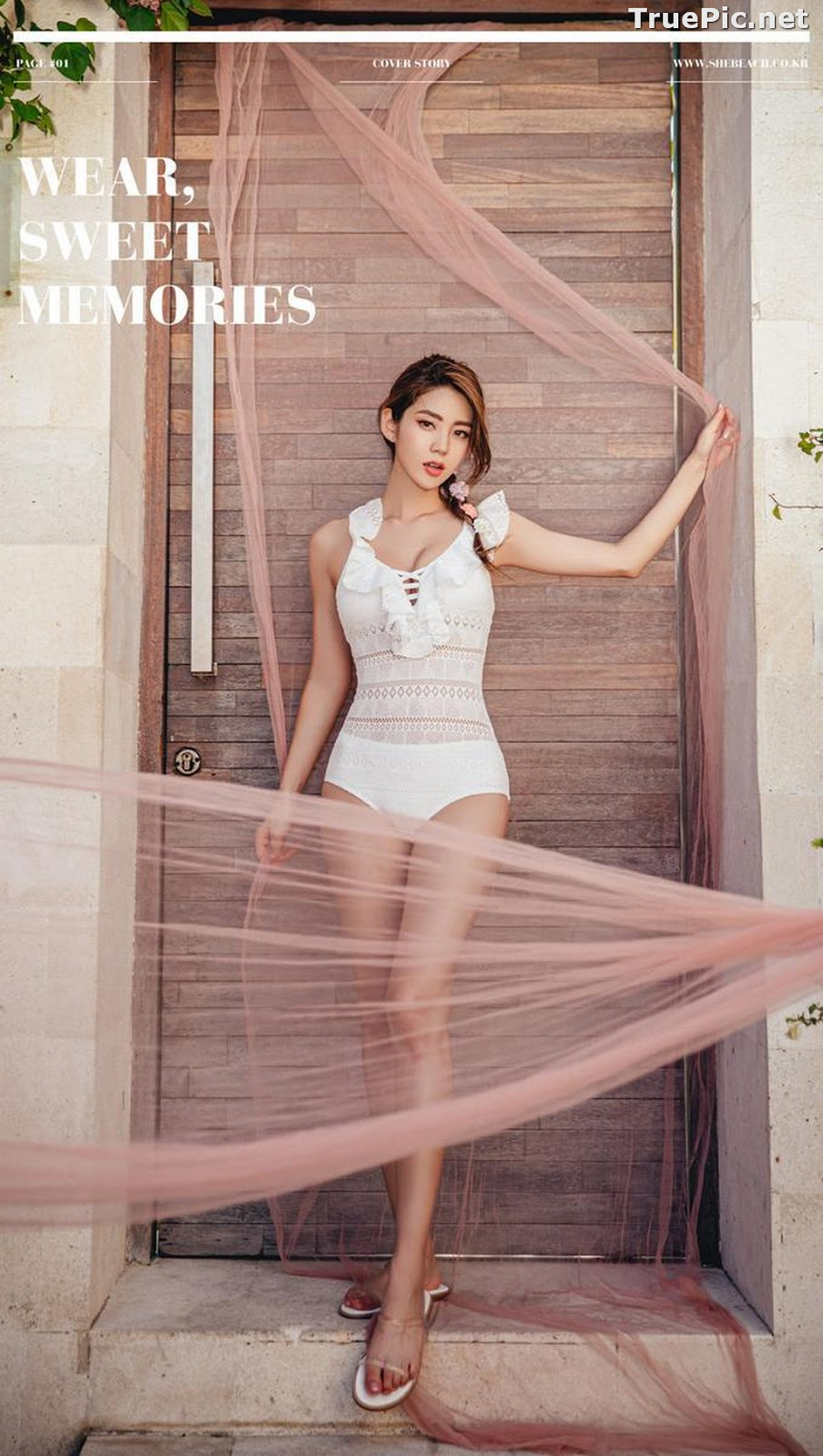 Image Korean Fashion Model - Lee Chae Eun - Linda One Piece Swimsuit - TruePic.net - Picture-4