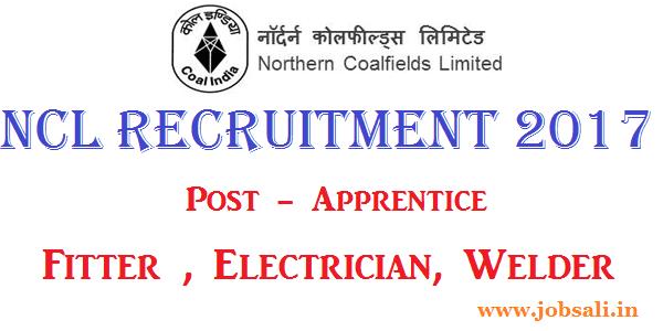 NCL Singrauli Recruitment 2017, NCL Vacancy 2017, NCL Apprenticeship jobs