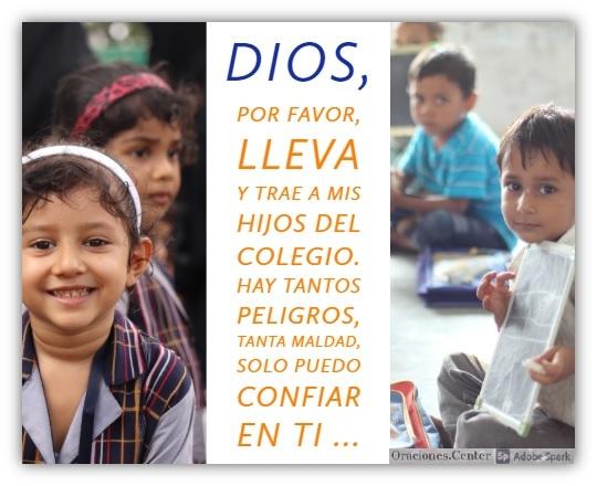 Oración para Proteger a Mis Hijos en el Colegio