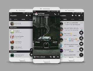 Matte Black Buggati Theme For YOWhatsApp & GB WhatsApp By Rvb
