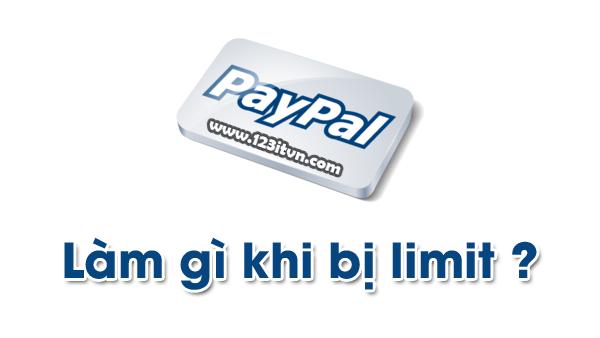 Paypal limit và cách gỡ limit paypal