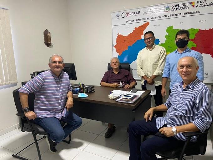 Prefeito Vital Costa visita o coordenador geral do projeto cooperar na paraíba e apresenta demandas para o município de Araruna