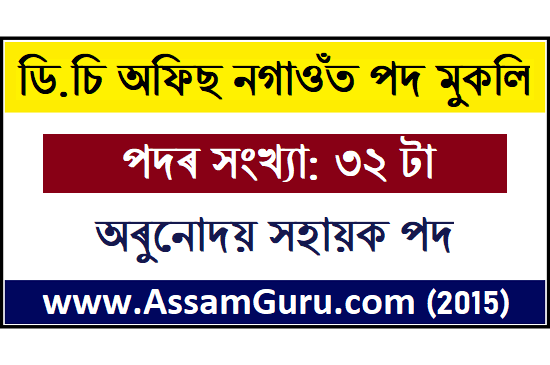 DC Office, Nagaon Jobs 2020