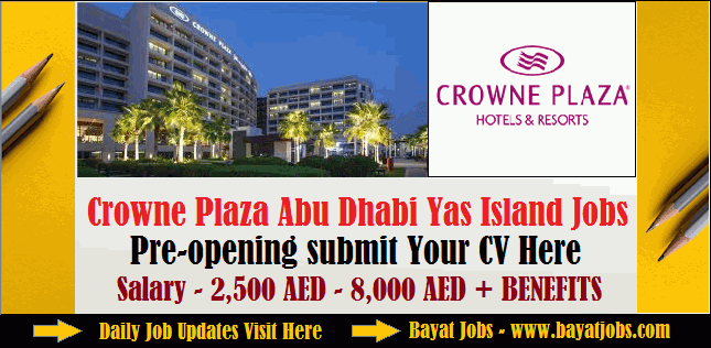 Crowne Plaza Abu Dhabi - Yas Island Hospitality jobs