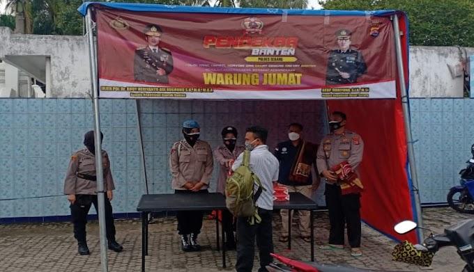 Jalankan Commander Wish Kapolda, Jajaran Polres Serang Laksanakan Progam Warung Jum'at