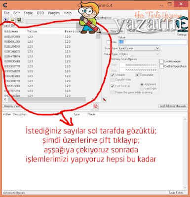 cheat engine kullanımı