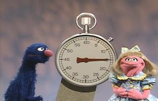 Prairie Dawn gives Grover fifteen seconds to say an S word. Sesame Street All Star Alphabet