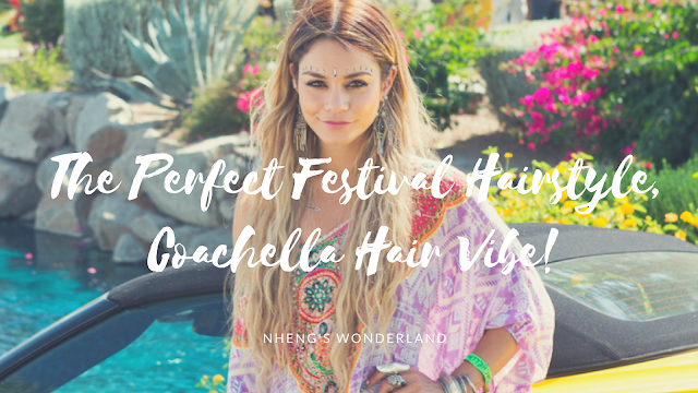 The Perfect Festival Hairstyle, Coachella Hair Vibe!