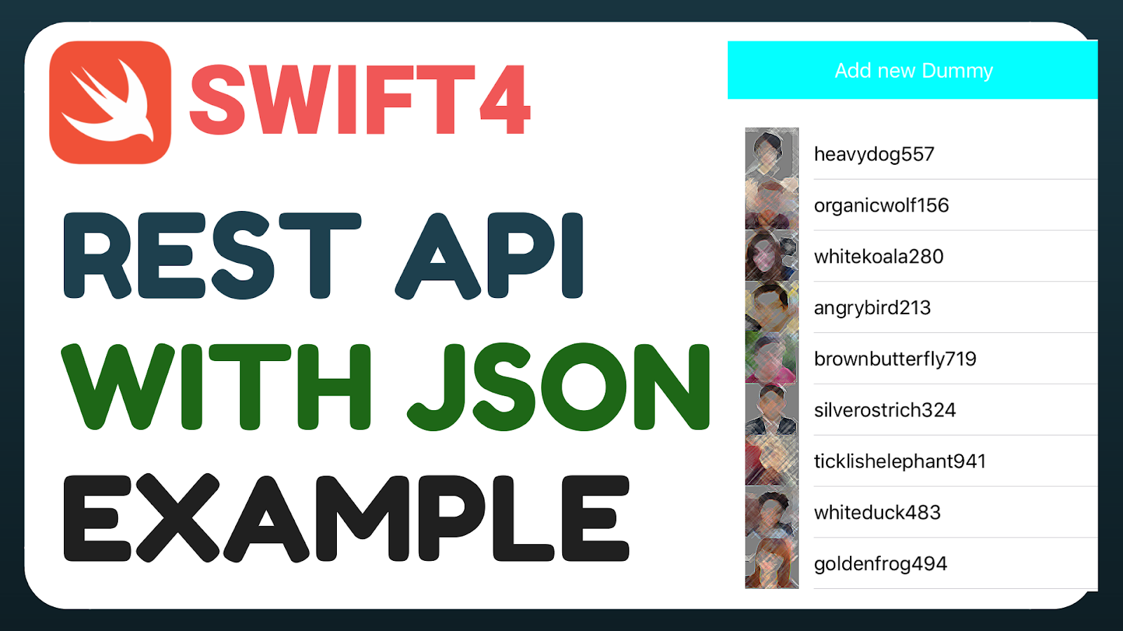 Swift 4] REST ful API with JSON , SwiftyJSON Tutorial example
