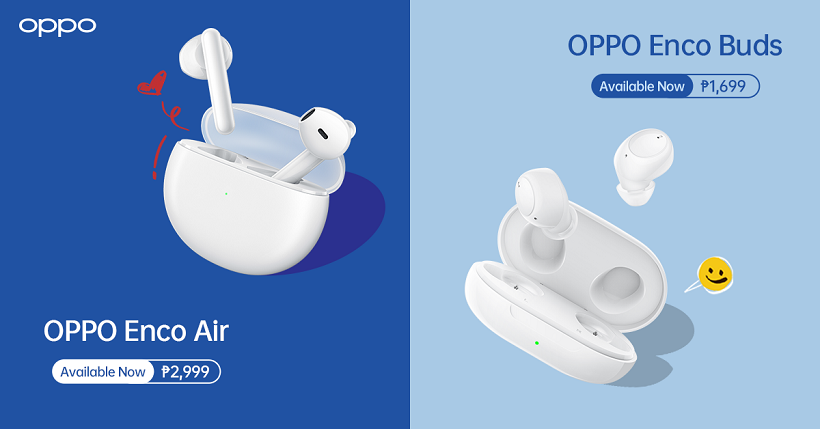 OPPO Enco Buds, Enco Air now available in the Philippines, starts at ₱1,699