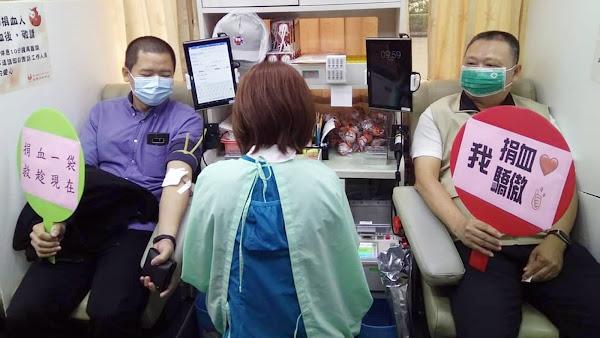 彰化榮家號召捐血 員工挽袖不落人後