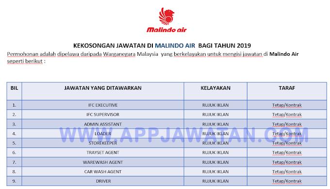 Jawatan Kosong Terkini di Malindo Air.