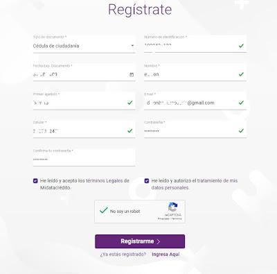 Formulario consultar datacredito gratis