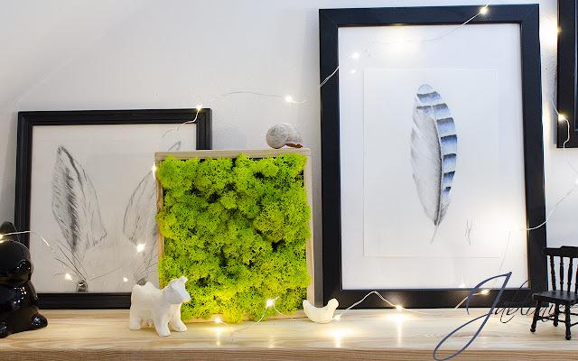 DIY - obraz z mchu