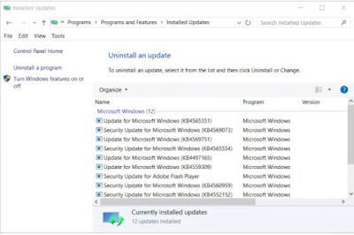 Pilih update Windows 10 yang terbaru