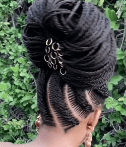 Black braided updo hairstyles By Jalicia HairStyles.