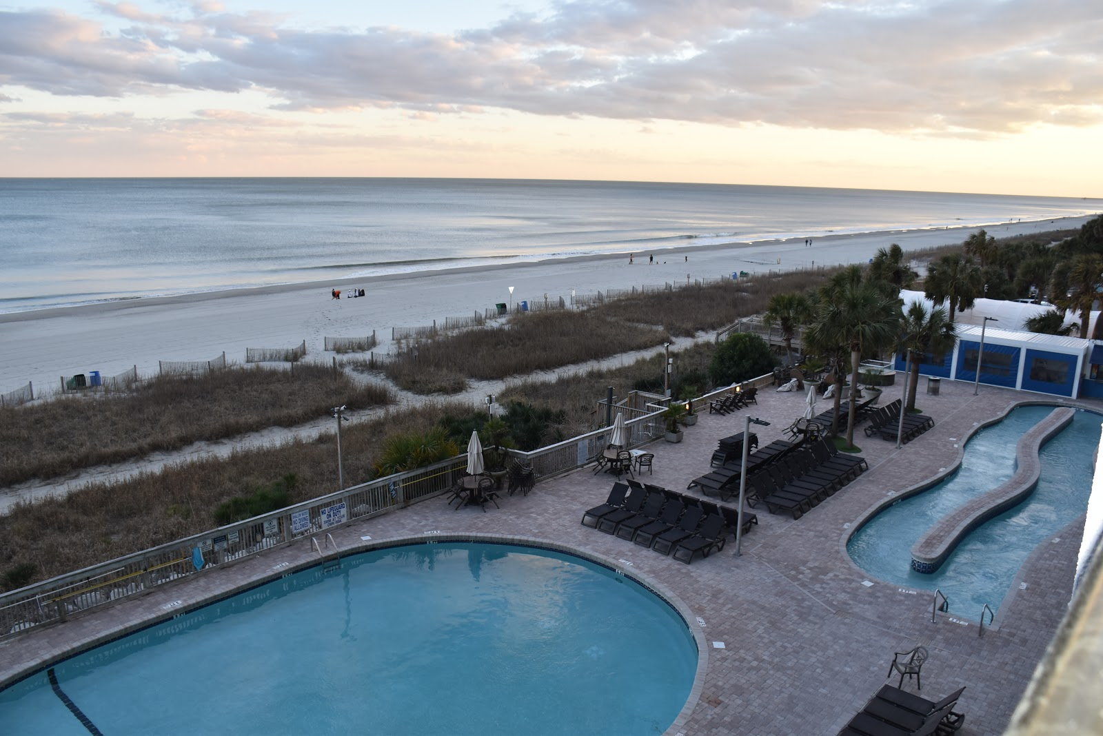 Outdoor pool and lazy river at Caribbean Resort and Villas in Myrtle Beach