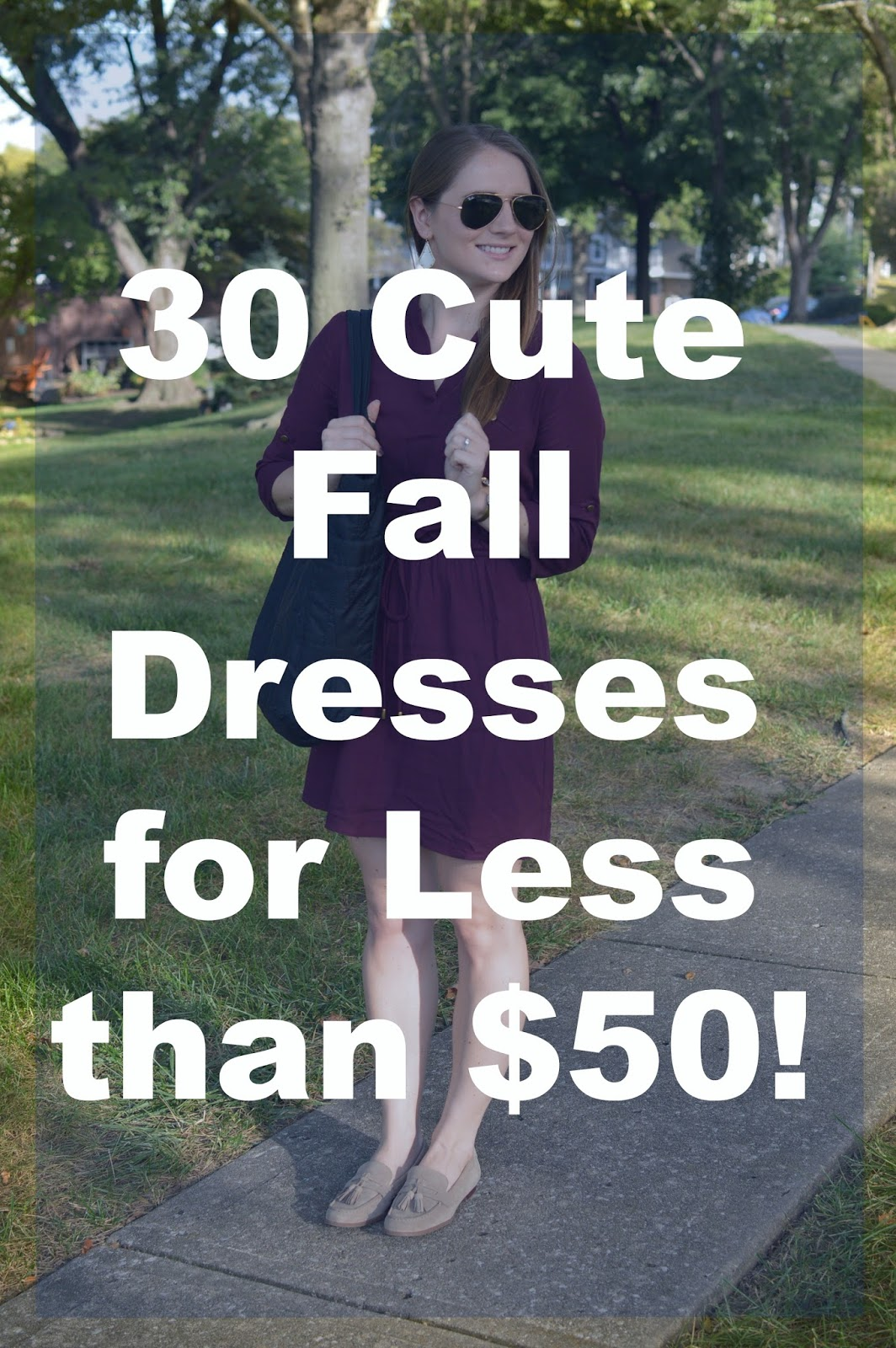 30 cute fall dresses for less than $50 | a memory of us fashion blog | cute dresses for fall for less than $50