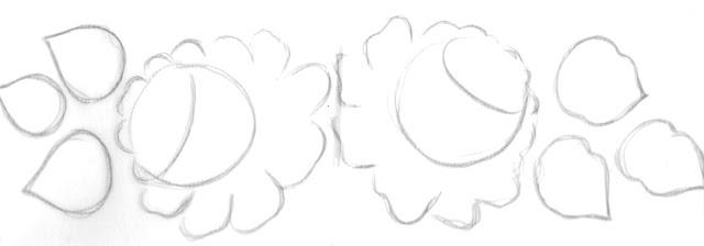 risco de barrado de rosas