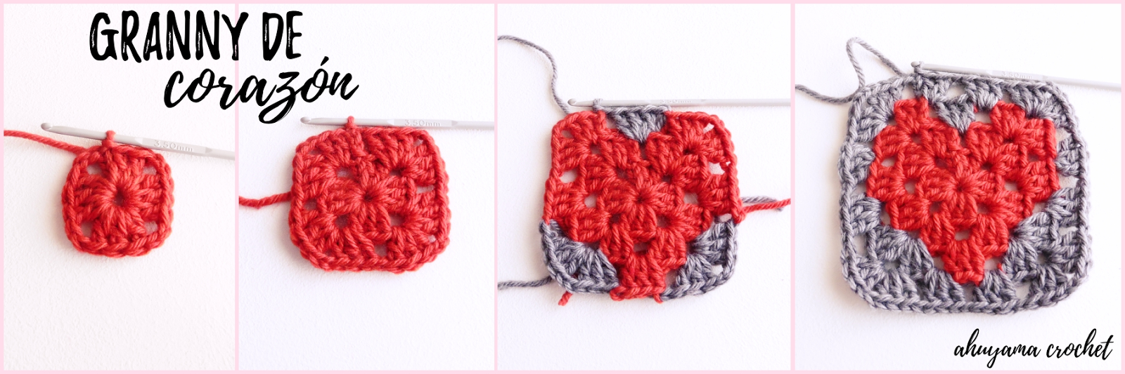 Gorro de corazones a crochet - Ahuyama Crochet