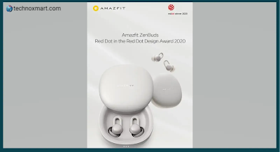 Amazfit Zenbuds TWS Earbuds Launched With 12-Hour Battery Life, Auto Sleep Detection On Indiegogo