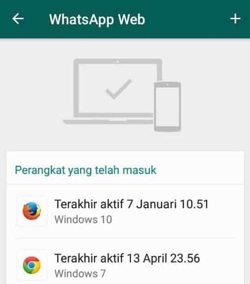 Sesi Keluar Masuk WhatsApp web