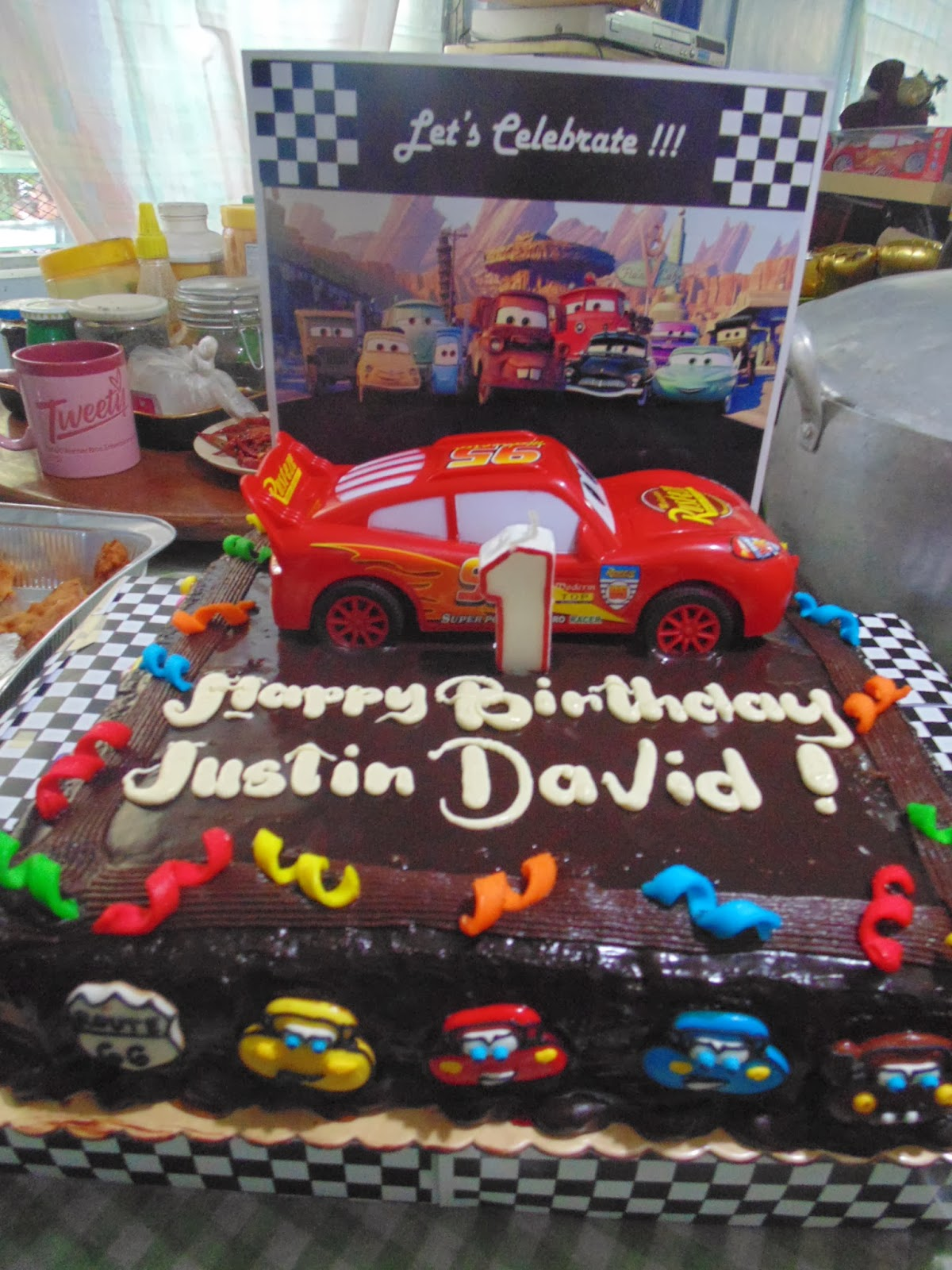 Cars Cake Design Red Ribbon : Supreme Life: DIY Disney Cars Cake