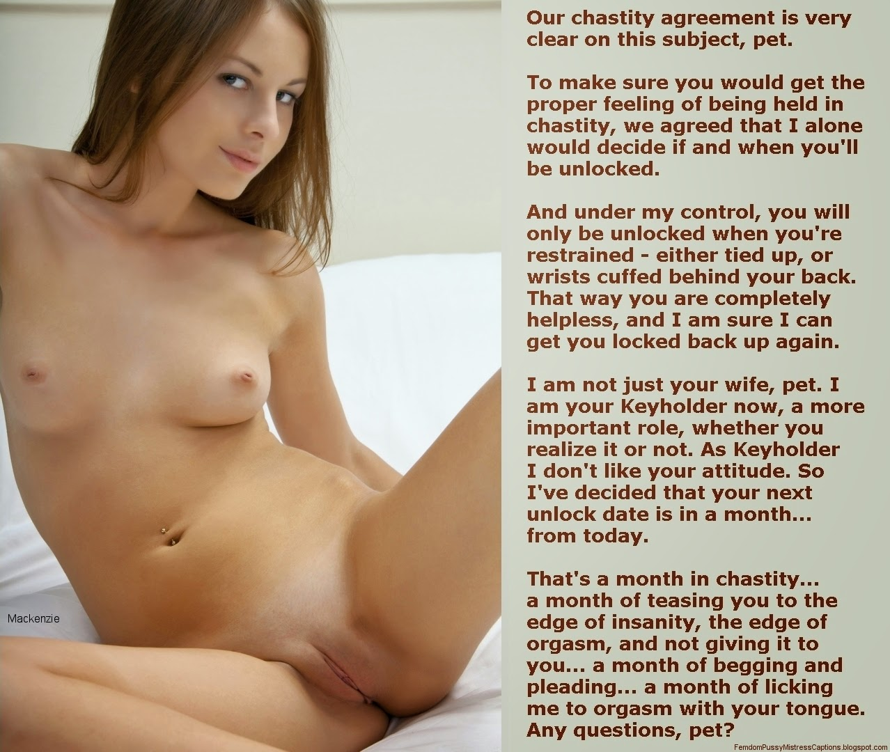 Chastity contract