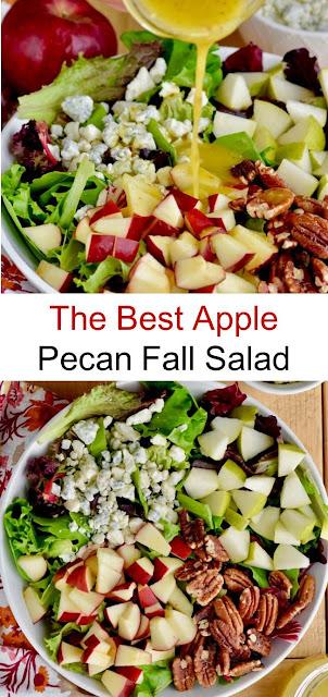 The Best Apple Pecan Fall Salad #BestSalad #Apple #Pecan #Fall #Salad #Saladrecipes