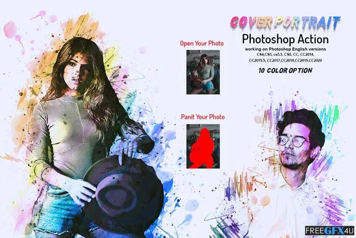 Cover Portrait Photoshop Action