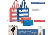 Logo Amica in edicola con Set Positano, bag e pochette e Travelsize shampoo Pantene