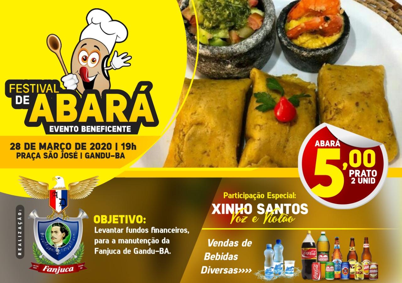 GANDU - Vêm aí o 1° festival do abará na praça São José; Evento será beneficente