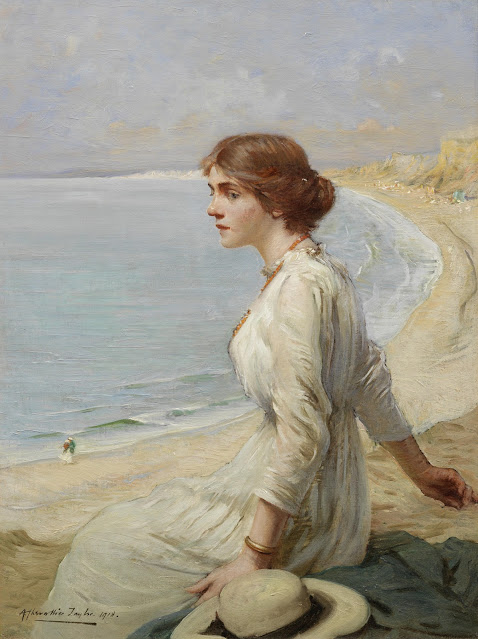Albert Chevallier Tayler - Girl Looking Out to Sea - 1918