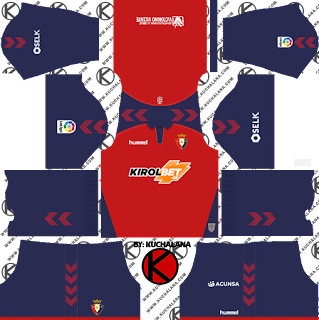 CA Osasuna 2019/2020 Kit - Dream League Soccer Kits