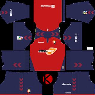 CA Osasuna 2019/2020 Kit - Dream League Soccer Kits