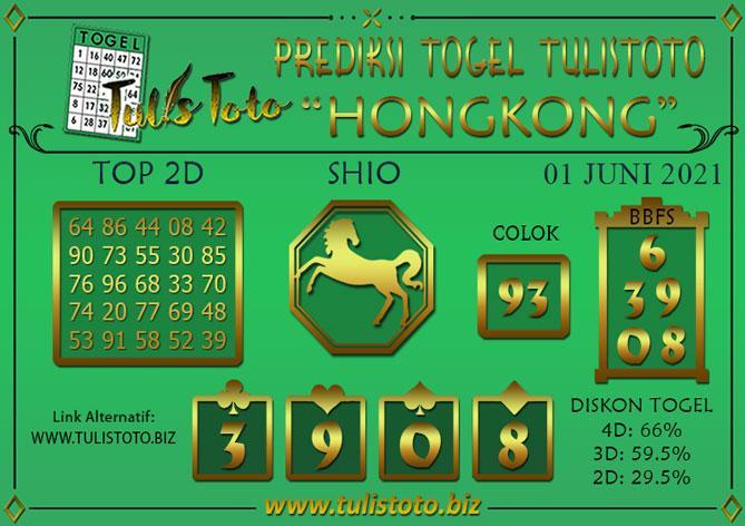 Prediksi Togel HONGKONG TULISTOTO 01 JUNI 2021