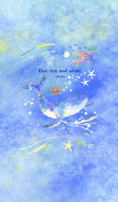 Blue sea and whale