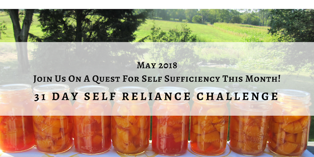 Join us in this self-reliance challenge in May!