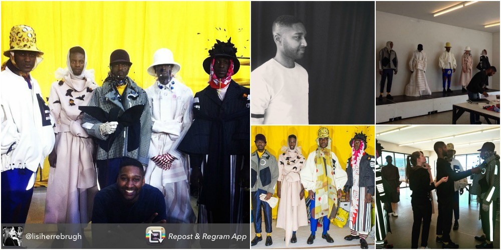 Off-Blog Duties on Jon The Gold - modeling for antwerp fashion department show2015 Royal academy of fine arts N.W.E. collection Rushemy Botter model jonathan zegbe - backstage mensfashion menswear highfashion men haute couture homme