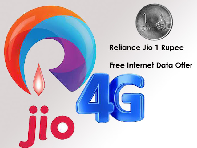 Reliance Jio 1 Rupee Free Internet Data Free Voice Calls Offer Sms