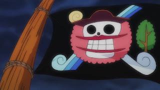 ワンピースアニメ 987話 ワノ国編   ONE PIECE ビッグマム海賊団 マーク 旗 BIG MOM Piarates