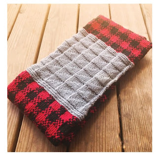 Lumber Jill Cowl Knit Buffalo Plaid Pattern