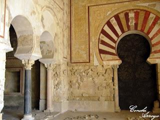 Interior del salón de Abd al -Rahman III, uno de los laterales