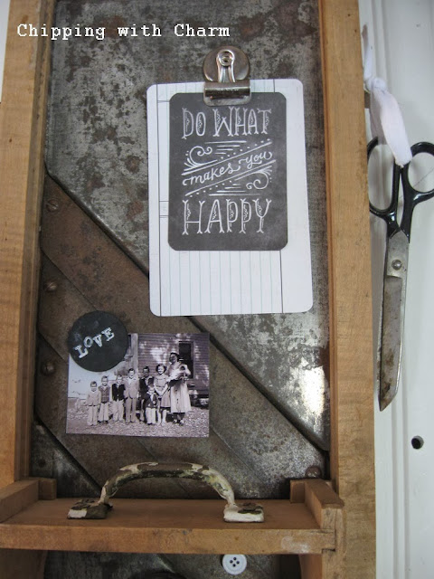 Chipping with Charm:  Kraut Cutter to Memo Station via http://www.chippingwithcharm.blogspot.com/